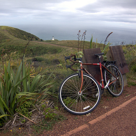 Bike at the Cape Reinga